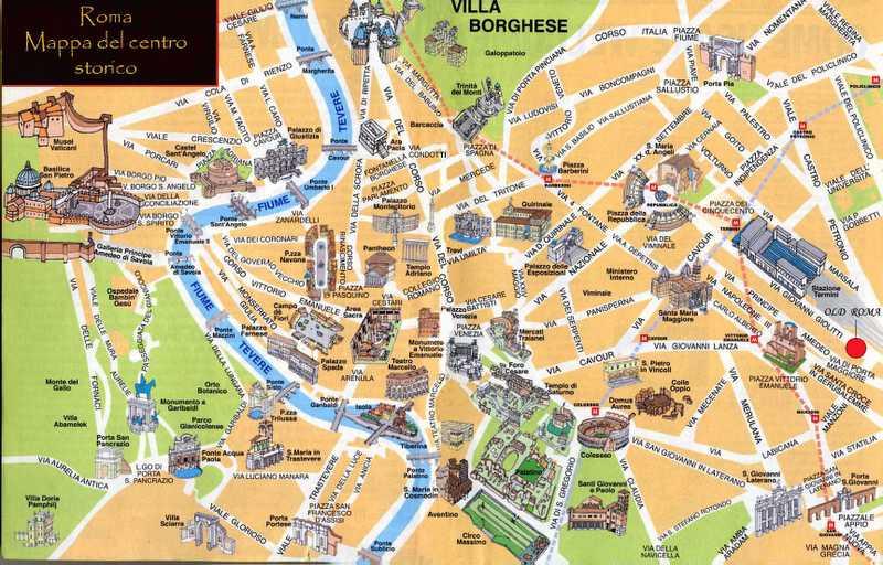 Cartina Dettagliata Roma.Cartina Roma Isamilk Blog